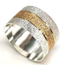 More details for gold & silver textured napkin rings