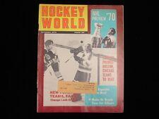 October 1970 Hockey World Magazine - Eddie Johnston Cover