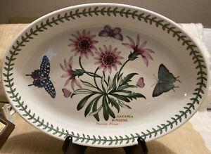 "Portmeirion Botanic Garden Treasure Flower Butterflies 10 3/4"" Platter."