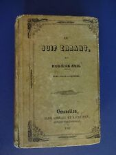 LE JUIF ERRANT(The Wandering Jew) By EUGENE SUE. 25th Volume, 1845, French Text