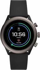 Fossil Sport Smartwatch 43mm Aluminum Gen 4 - Black Silicone Band