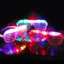 Shutters LED Flashing Glasses Glowing Eye Glasses Light Up Party Wedding Toy Pop