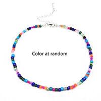 Bohemian Handmade Rainbow Beaded Chain Choker Necklace Female Fashion Jewelry