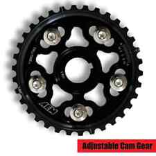 AEM Tru-Time Adj Cam Gear for Honda D16A/Z-Series Motor BLACK 5-Bolt 23-800BK