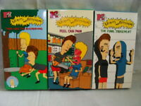LOT of 3 Beavis and ButtHead VHS Videotapes Feel our Pain-The Final Judgment