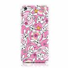 KAWAII CUTE LARGE BUNNY PRINT PINK CASE COVER FOR APPLE IPHONE MOBILE PHONES