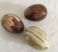 Polished Decorative Marble Eggs x 3