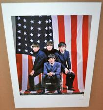 BEATLES Apple Promo Color Lithograph American Flag #781/10,000 2009 Apple Corps