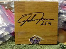 JOHNNY JONES LSU TIGERS SIGNED 6X6 LOGO FLOOR TILE W/COA
