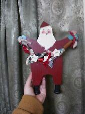 Folk Art Primitive Santa Vintage Wood Carving Xmas Decoration OOAK Christmas