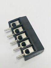 10pcs-970-DS/05, Euro Style WECO Terminal Blocks, Screw Type, 5POS, 26-12 AWG