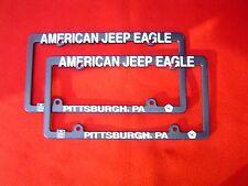 AMC JEEP EAGLE DEALER LICENSE PLATE FRAMES PITTSBURGH PA SX4 CJ5 CJ7 CJ8