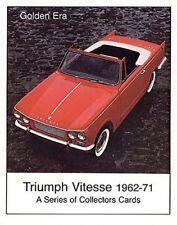 Triumph Vitesse (1962-71) Tarjeta Colección Set - 1600 12/50 2 Litros MK I II