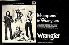 "(18/3/1972) ADVERT 8X12"" IT HAPPENS IN WRANGLERS JEANS"