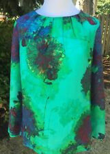 J.Crew Pleated Top Blouse in Hothouse Floral Sz M