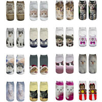 2019 Unisex  Funny 3D Fashion Cat Printed Casual Socks Cute Low Cut Ankle Socks