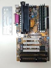 Gigabyte GA-6BXC REV 2.0 SLOT1 3xISA + Pentium 3 450 + 512MB + I/O Shield TESTED