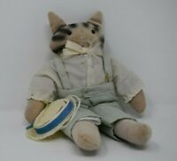 Hallmark Soft Male Cat With Hat Doll Toy Made In Taiwan 29cm Tall