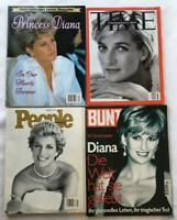 Princess Diana Tribute Lot of 4 Vintage Magazines TIME PEOPLE BUNT GOLD 1997