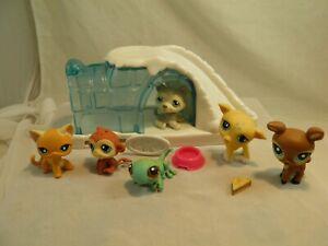 Lot of 6 Littlest Pet Shops & Accessories Artic Wolf Cat Panda ect. Toys #1