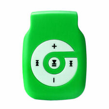 Green Sports Metal Clip USB MP3 Player 32GB Support Micro SD TF Card Music Media