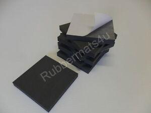 Pack of 8 Self-adhesive Anti-Vibration Grey Medium Density PE Foam Pads