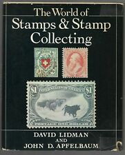 554 World of Stamps and Stamp Collecting book by David Lidman & John D. Appflbau