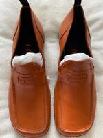 Miu Miu Rust Leather Loafers Size 8