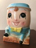 Vintage Humpty Dumpty Planter Rubens Head Japan Ceramic baby boy nursery mcm 50s