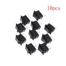 10x 10*15MM Small Black Rocker Switch KCD1-11 250VAC/3A 6A 125V AC 2P SwitchesST