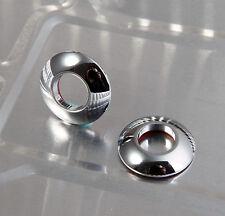 x2 CHROME METAL Door Lock Knob Grommet Cup Cap Covers for BMW 1 3 5 6 Series Z3