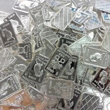 100 x 1 gram Silver Bar Bullion  (different designs picked at random) oz wpz704