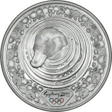 PLATYPUS & WATER LILY - 2000 SYDNEY OLYMPICS - 1 oz Pure Silver Proof Coin - RCM