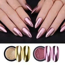 Espejo De Uñas Brillo Polvo de Color Metálico Arte en Uñas UV Gel Polvo Pigmento De Pulido