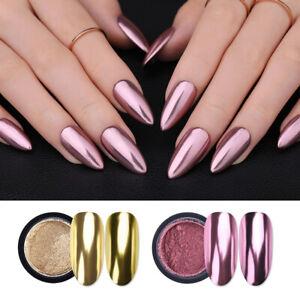 Nail Glitter Mirror Powder Metallic Color Nail Art UV Gel Polishing Pigment Dust