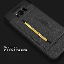Ultra Thin Leather Card holder wallet kickstand Luxury Case For Samsung Galaxy
