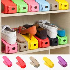 "6 Pack Easy Shoe Rack Organizer Shoe Slots Organiser Space Saver Holder 2.2*6.3"""