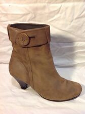COX Brown Ankle Leather Boots Size 38