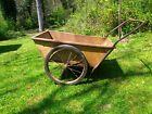 Antique/Vintage Garden Cart-Metal Construction-Large Wheels-Working / Decorative