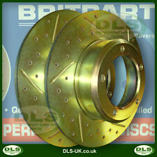 """Land Rover Discovery, Range Rover Classic """"Drilled"""" Rear Disc Brakes (DA4601)"""