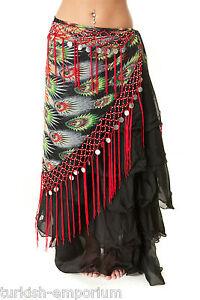 Tribal Fringe Fusion Belly Dance Hip Scarf V Shaped Apparel Dancing Costume Wear
