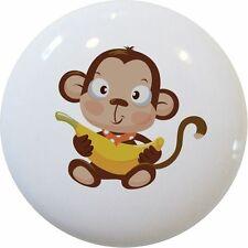 MONKEY Bandanna & Banana Kids Cabinet DRAWER Pull KNOB