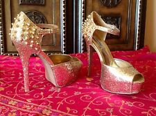 Gold Spike Heels NWT