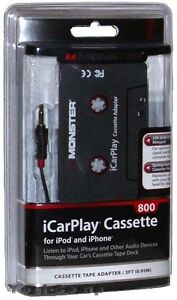 Monster iCarPlay 800 Cassette Tape Car Adapter for iPod MP3 & iPhone
