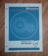 HUSQVARNA 455 RANCHER CHAIN SAW SERVICE SHOP MANUAL
