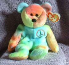 Ty Beanie Babies Peace the ty-dye bear  Retired