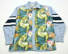 Robert Graham Mens English Bulldog Long Sleeve Button-Down Shirt