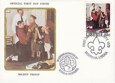1979 Liberia Scouting / Norman Rockwell Commem.Fdc Cover - Mighty Proud