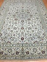 """7'9"""" x 11'2"""" Indian Floral Oriental Rug - 1950s - Hand Made - 100% Wool"""