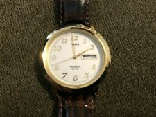 Timex Men's T21713 Classic Gold-Tone Dress Watch w/ Leather Strap and Free Ship!